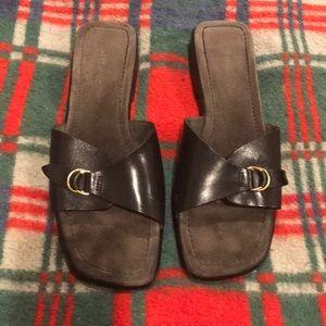 Etienne Aigner Black Offer Slip-On Sandals